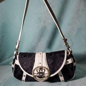 Kathy Van Zeeland Black and White Handbag